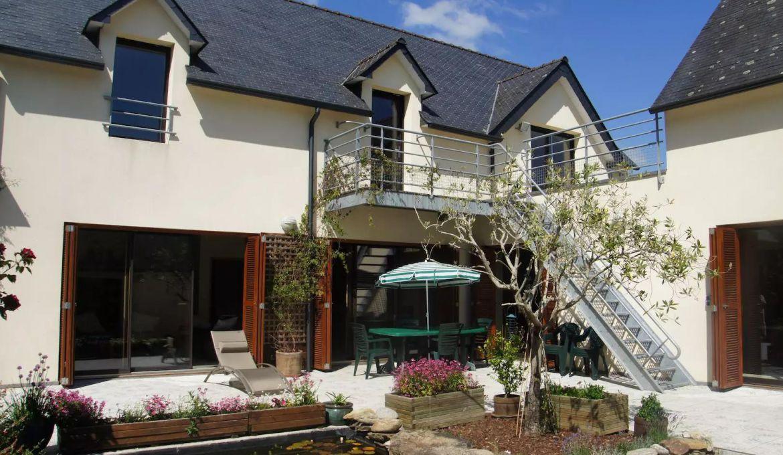 vente belle maison d'architecte bord de mer moelan sur mer - pierres